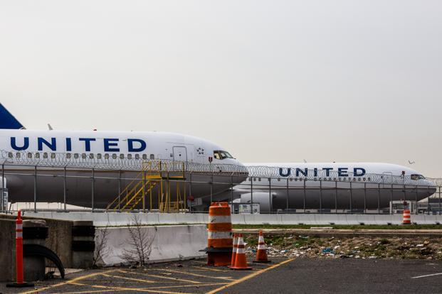United Continental air planes at Newark Liberty International Airport in New Jersey, US, on Wednesday. Photo: Bloomberg