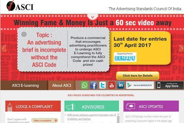 The Ad watchdog says it is the duty of the advertiser and the advertising agency to ensure that celebrities are aware about the ASCI code.