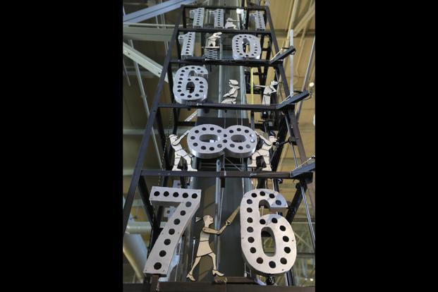 The 'Tinkerer's Clock' at Exploratorium, San Francisco. Photo: Eric Risberg/AP
