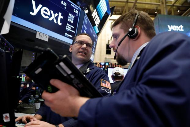 The S&P 500 financial index slipped 0.7%, setting it up for a fifth straight day of losses. Photo: Reuters