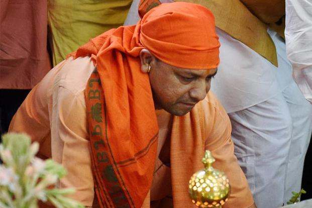 Yogi Adityanath's remarks came as he addressed a gathering on the occasion of Dr B.R. Ambedkar's 126th birth anniversary in Lucknow. Photo: PTI
