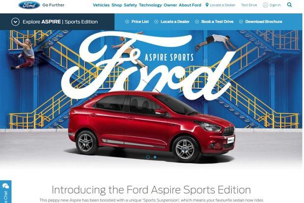 The Ford Aspire sports edition is priced at Rs6.5 lakh for the 1.2 petrol Titanium variant