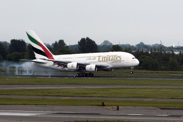 Emirates said that the reductions will affect five of its 12 US destinations, starting next month. Photo: Jeremy Bales/Bloomberg