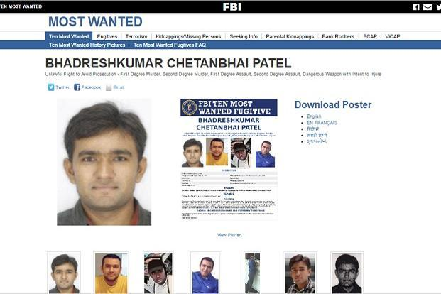 FBI puts Indian who killed his wife in US on its 'Most Wanted List'