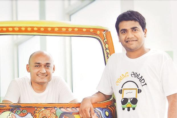 Jugnoo co-founders Samar Singla (left) and Chinmay Agarwal.