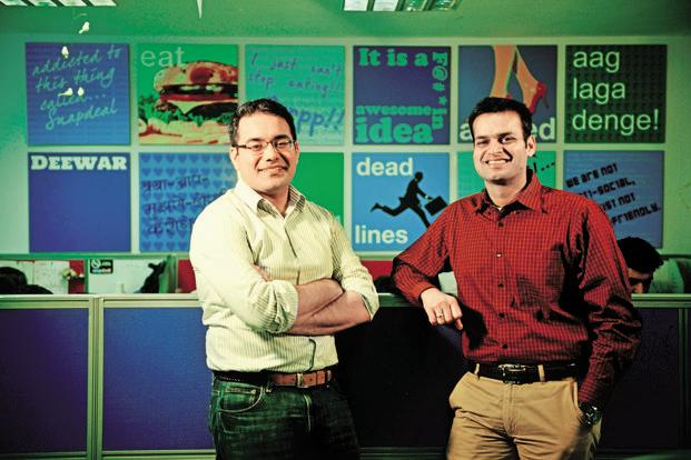 Snapdeal founders Kunal Bahl (left) and Rohit Bansal have indicated that the fate of the e-commerce firm is not in their hands. Photo: Pradeep Gaur/Mint