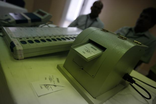 The VVPAT machines, that leave a paper trail of votes cast at EVMs, will be used in 2019 Lok Sabha elections. Photo: Javeed Shah/ Mint