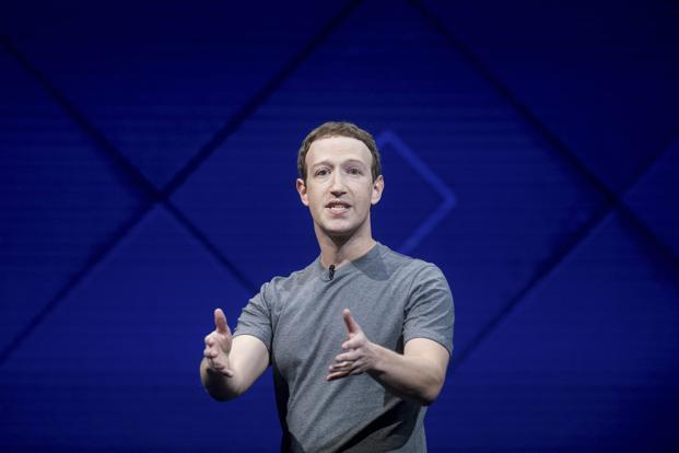 Facebook CEO Mark Zuckerberg speaks at his company's annual F8 developer conference on Tuesday in San Jose, California. Photo: AP