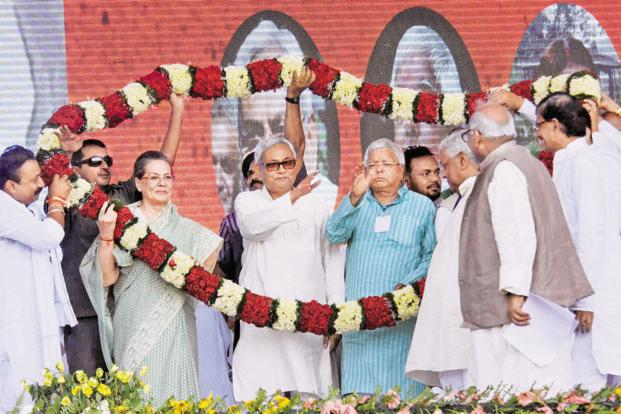 The Congress is a partner in the Bihar government with Kumar's JD(U) and Lalu Prasad's RJD. Photo: PTI