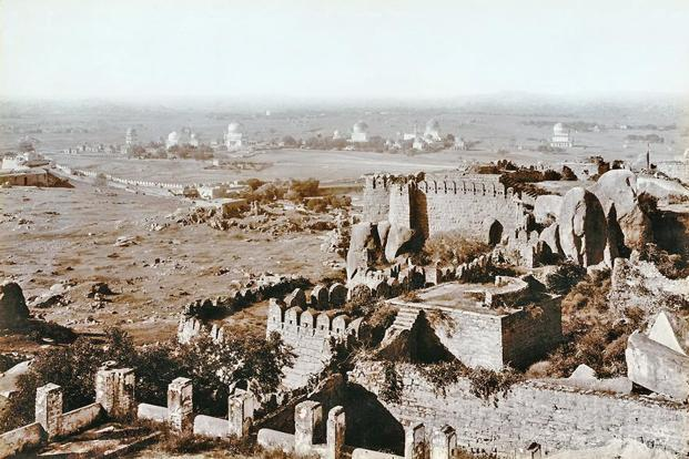 A view of the Qutb Shahi tombs from Golconda Fort in 1902-03. Photographs courtesy Aga Khan Trust for Culture