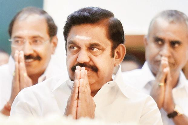 Tamil Nadu chief minister Edappadi K. Palaniswami. The developments came a day after merger efforts appeared to have hit a roadblock with the Panneerselvam camp seeking the formal expulsion of V.K. Sasikala and her nephew T.T.V. Dinakaran from the party. Photo: PTI