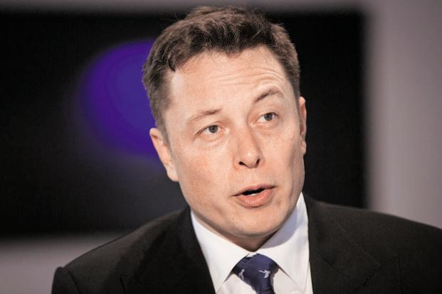 Elon Musk earns one-tenth of the options every time Tesla hits a pair of goals—one tied to its market value and another to the company's operations. Photo: Bloomberg