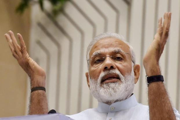 Social media should be used for the welfare of the people and not for self-praise, Narendra Modi told bureaucrats at a meeting in New Delhi to mark Civil Services Day. Photo: PTI