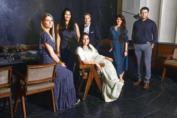 (From left) Alice Farquhar, Aditi Dugar, Stephane De Meurville, Saniya Kantawala, Sreejit Nair, (seated) Anavila Misra.