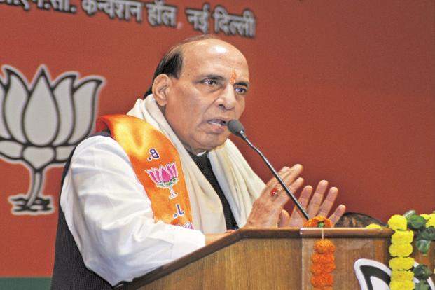 Rajnath Singh said knowledge acquired through surfing the Internet is not enough. Photo: Sushil Kumar/HT