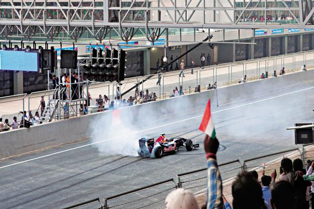 A file photo of the Buddh International Circuit where three Indian Grand Prix races were conducted by Formula One between 2011 and 2013. Photo: Ramesh Pathania/Mint