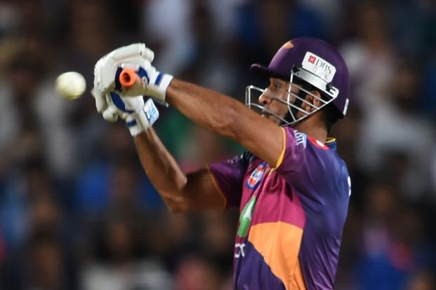 Rising Pune Supergiants' Mahendra Singh Dhoni in action against Sunrisers Hyderabad during an IPL match. Despite the overall scoring rate being higher for the team batting first, scoring trends show victories while chasing have gone up since last year. Photo: Getty/AFP