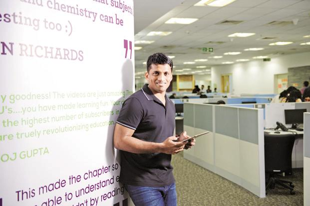 Byju Raveendran, founder and CEO of India's best-funded education start-up Byju's. Photo: Hemant Mishra/Mint
