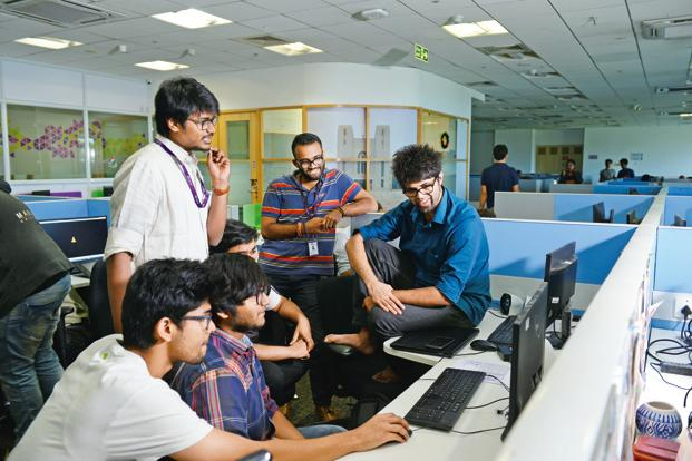 Byju's team of 200 has grown to 1,000 in the past year. Photo: Hemant Mishra/Mint