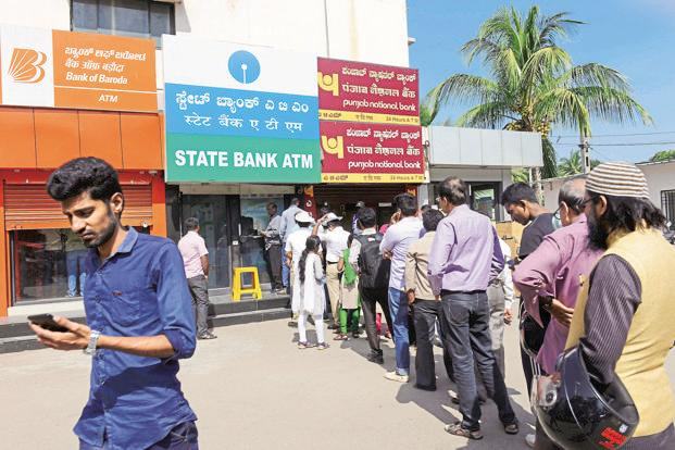 FIS MD Ramaswamy Venkatachalam says since there is no denomination between Rs500 notes and Rs2000 notes, the average transaction value has gone up even as number of cash withdrawals at ATMs has fallen. Photo: Mint