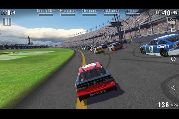NASCAR Heat mobile offers 23 racing tracks.