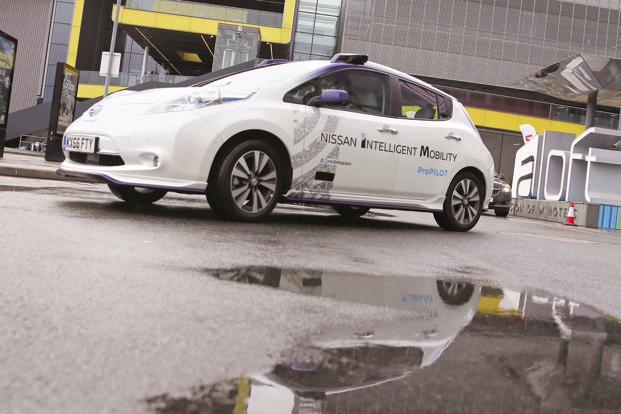 Nissan Leaf during a demonstration in Europe. Photo: Reuters