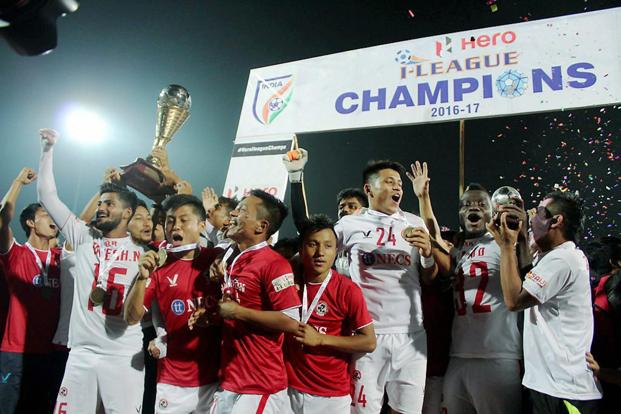 Aizawl FC were on Sunday crowned I-League champions in one of the most remarkable achievements in Indian football history. Photo: PTI