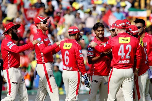 Kings XI Punjab's Sandeep Sharma (4/20) was the wrecker-in-chief as he returned with a four-wicket haul against Delhi Daredevils on Sunday, while Axar Patel (2/22) and Varun Aaron (2/3) picked up two wickets each. Photo: PTI