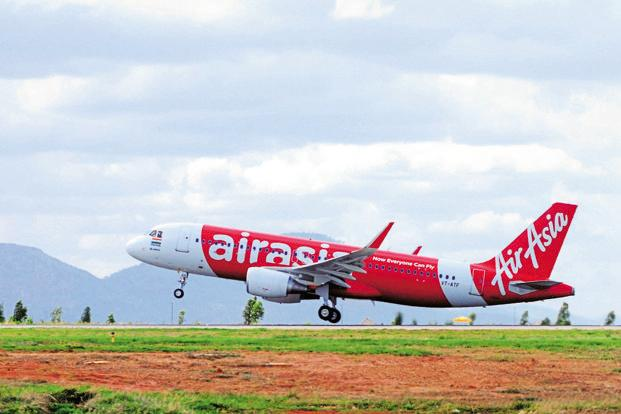 AirAsia India's seat factor, a measure of how full the plane flies, also increased by three per cent to 89% in the quarter from 86% in the same quarter of fiscal 2016. Photo: Mint