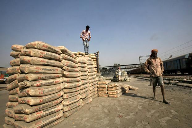 Average cement prices across the nation picked up strongly in April, a report by Edelweiss said. Photo: Reuters
