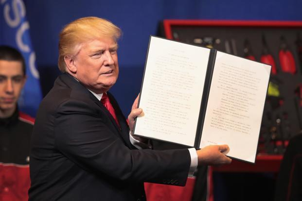 US President Donald Trump has ordered a comprehensive review of the H1B visa programme, the primary way that companies in the US hire high-skilled foreign workers. Photo: Getty images