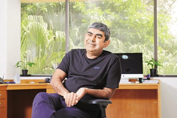 To reach his goals, Infosys CEO Vishal Sikka is spending more time with clients and scouting out opportunities across the globe. Photo: Hemant Mishra/Mint