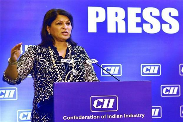 CII president Shobana Kamineni said the drivers for growth would include GST implementation and greater participation of women in the labour force. Photo: Manvender Vashist/PTI
