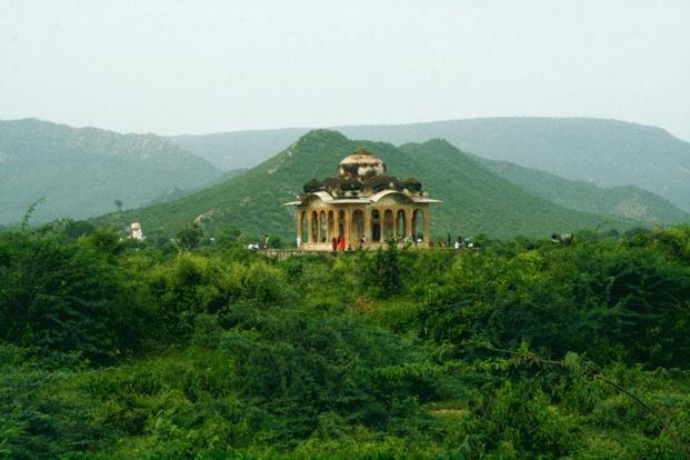Secluded Chattri visible from Bhangarh ruins. Photo: Abha Iyengar