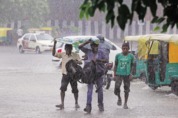 Some parts of the capital saw showers on Wednesday last week with the minimum temperature settling around 24.4 degrees Celsius. Photo: HT