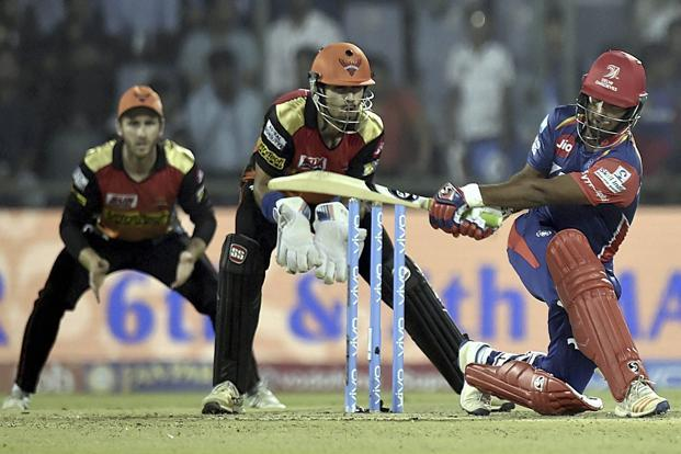 Rishabh Pant showed he could be the next big thing in Indian cricket as he dealt in fours and sixes to take Delhi Daredevils forward in the company of Sanju Samson, who too showed his hitting prowess. Photo: PTI