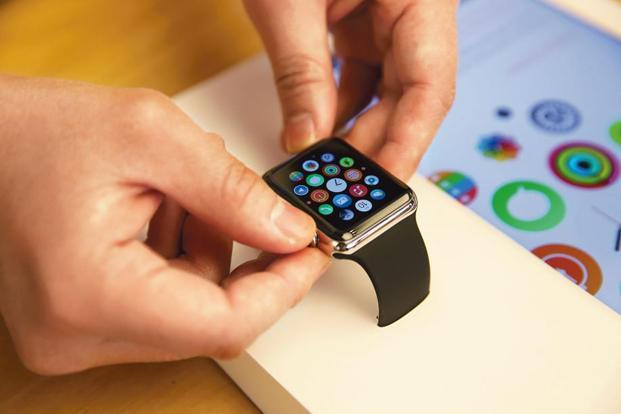 The estimate by Strategy Analytics showed a 59% jump in Apple Watch sales from a year earlier, with 3.5 million units sold in the first three months of the year. Photo: Bloomberg