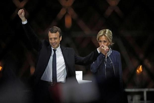 The result is a remarkable achievement for Macron, who built his En Marche! movement just last year. A former investment banker and one-time economy minister in the outgoing government of Francois Hollande, he becomes the first postwar head of state to be elected from outside the traditional party structure. Reuters
