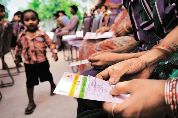 In its 28 February notification, the HRD ministry had said that individuals who want to avail the benefits under the mid-day-meal scheme are required to furnish proof of possession of Aadhaar number or undergo Aadhaar authentication. Photo: Priyanka Parashar/Mint