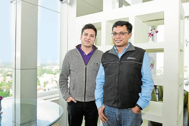 Flipkart founder Binny (left) and Sachin Bansal. Photo: Hemant Mishra/Mint