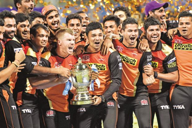 Sunrisers were tentatively hanging on to the fourth and last playoff place with only one round-robin match left, on Saturday against the eliminated Gujarat Lions. Photo: Hindustan Times