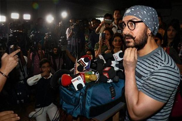 File photo of Bollywood actor Aamir Khan. Photo: PTI