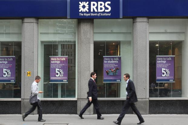 Royal Bank of Scotland (RBS) says its going for the job cuts and outsourcing others to India as part of its efforts to become a 'simpler, smaller UK-focused bank' . Photo: Bloomberg