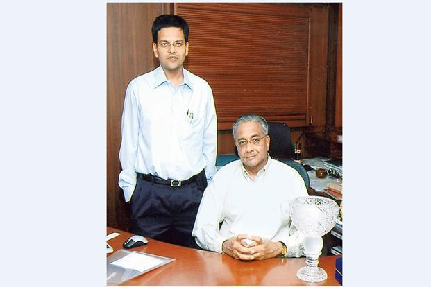 Chemplast Sanmar Group's Vijay Sankar (left) with his father N. Sankar.