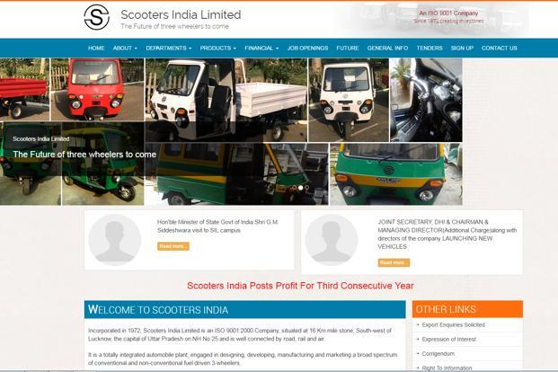 The government holds 93.74% stake in Scooters India Ltd.
