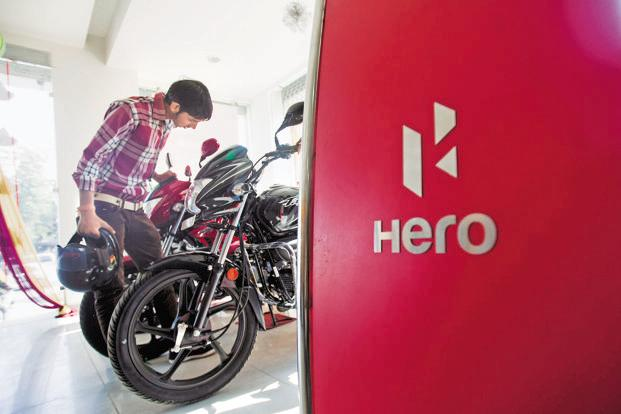 Hero MotoCorp sold 16,21,805 two-wheelers during the fourth quarter, down 5.77% from 17,21,240 in the year-ago period. Photo: Bloomberg