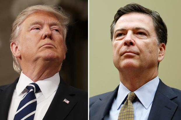 US President Donald Trump on Tuesday fired FBI director James Comey. Photo: Reuters