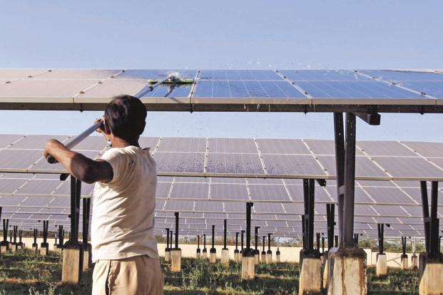 India's solar power generation capacity has increased by a third to 10,000 MW from 2,650MW as of 26 May 2014. Photo: Reuters
