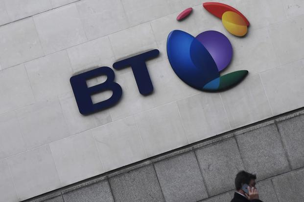 The logo of BT Group. Photo: Reuters/Toby Melvile