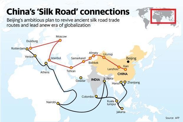 Nepal Signs Up To Chinas New Silk Road Plan Livemint - Us new silk road map